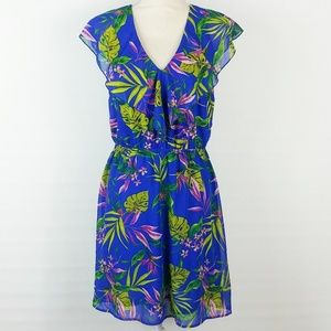 H&M Divided | Tropical Leaf Print Dress